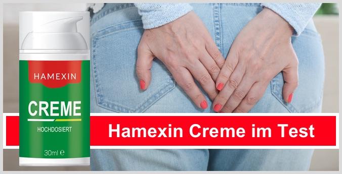 Hamexin Creme im Hämorrhoiden Test