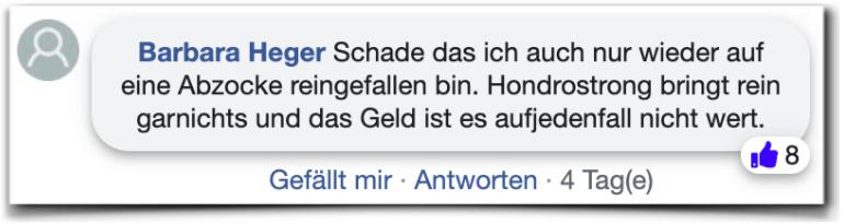 Hondrostrong Bewertungen Kritik facebook