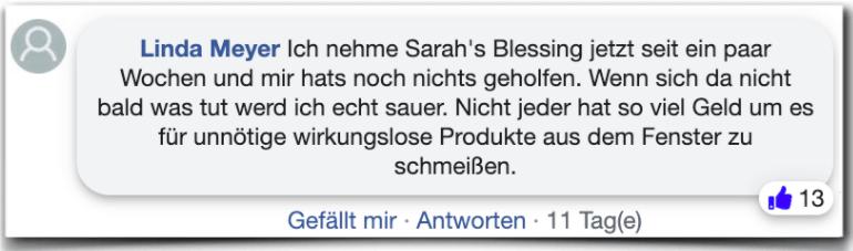 Sarah's Blessing Erfahrungsbericht Bewertung Kritik Erfahrungen