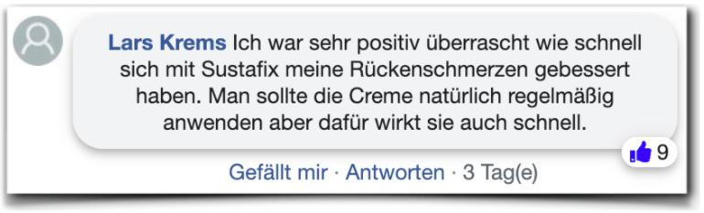 Sustafix Bewertungen Erfahrungsberichte facebook