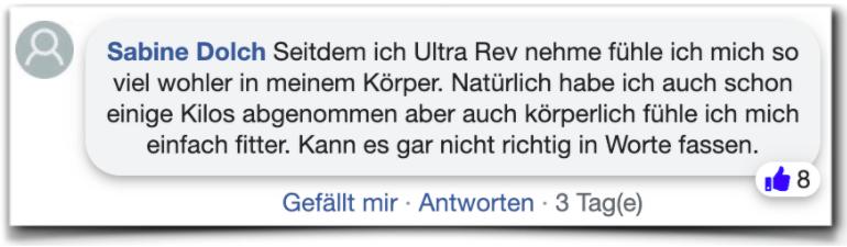 Ultra Rev Bewertungen Erfahrungen facebook