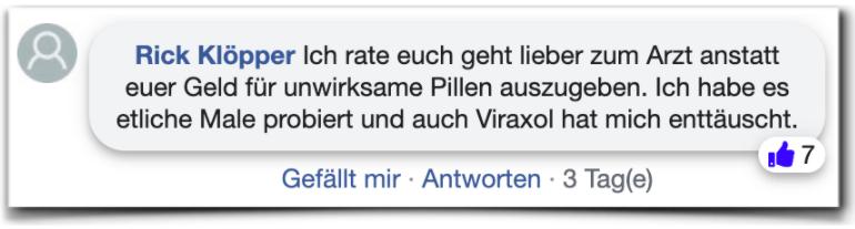 Viraxol Erfahrungen Bewertung facebook