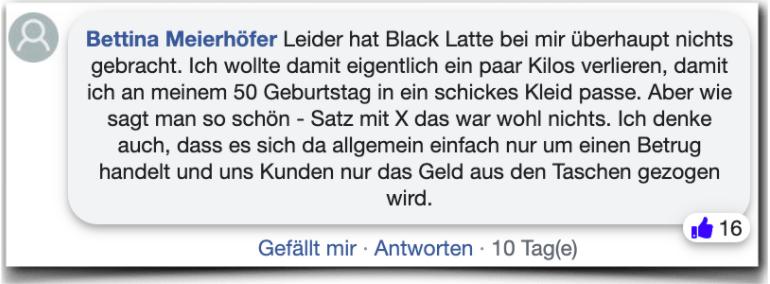 Black Latte Erfahrungsbericht Bewertung Kritik Black Latte