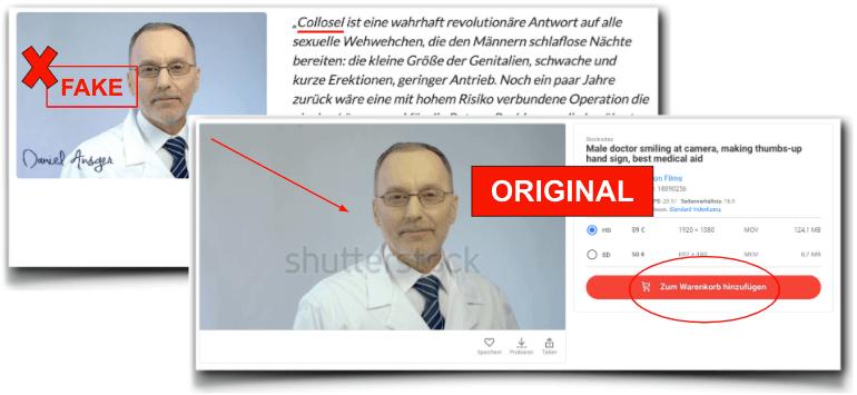 Collosel Arzt fake