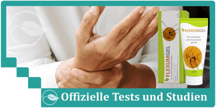 Flexumgel Tests Studien