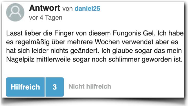 Fungonis Gel Bewertung Erfahrungsberichte