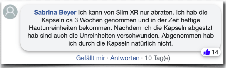Slim XR Erfahrungsbericht Bewertung Kritik Slim XR