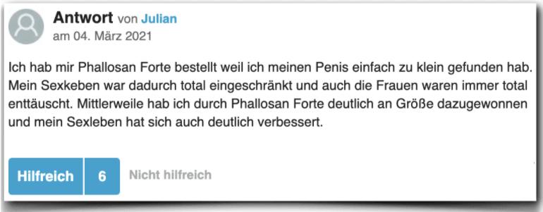Phallosan Forte Erfahrungsbericht Bewertung Kritik Phallosan Forte